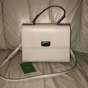 Cream colored Kate spade handbag
